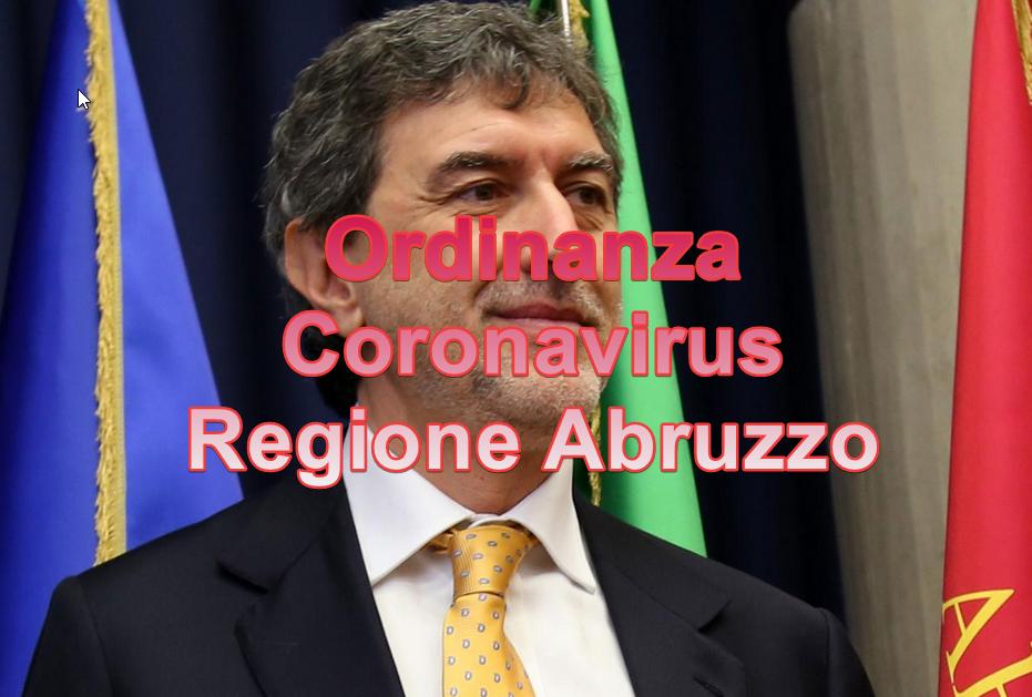 Coronavirus Ordinanza Regione Abruzzo 8 marzo 2020