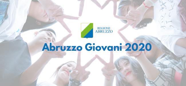"""Progetto """"Abruzzo Giovani 2020"""" - scadenza 7 maggio 2020"""