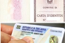 CARTE D'IDENTITA' - Prorogata la validità al 31 Agosto 2020