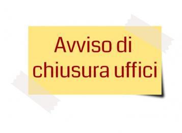 Chiusura uffici municipali 14 e 21 marzo 2020