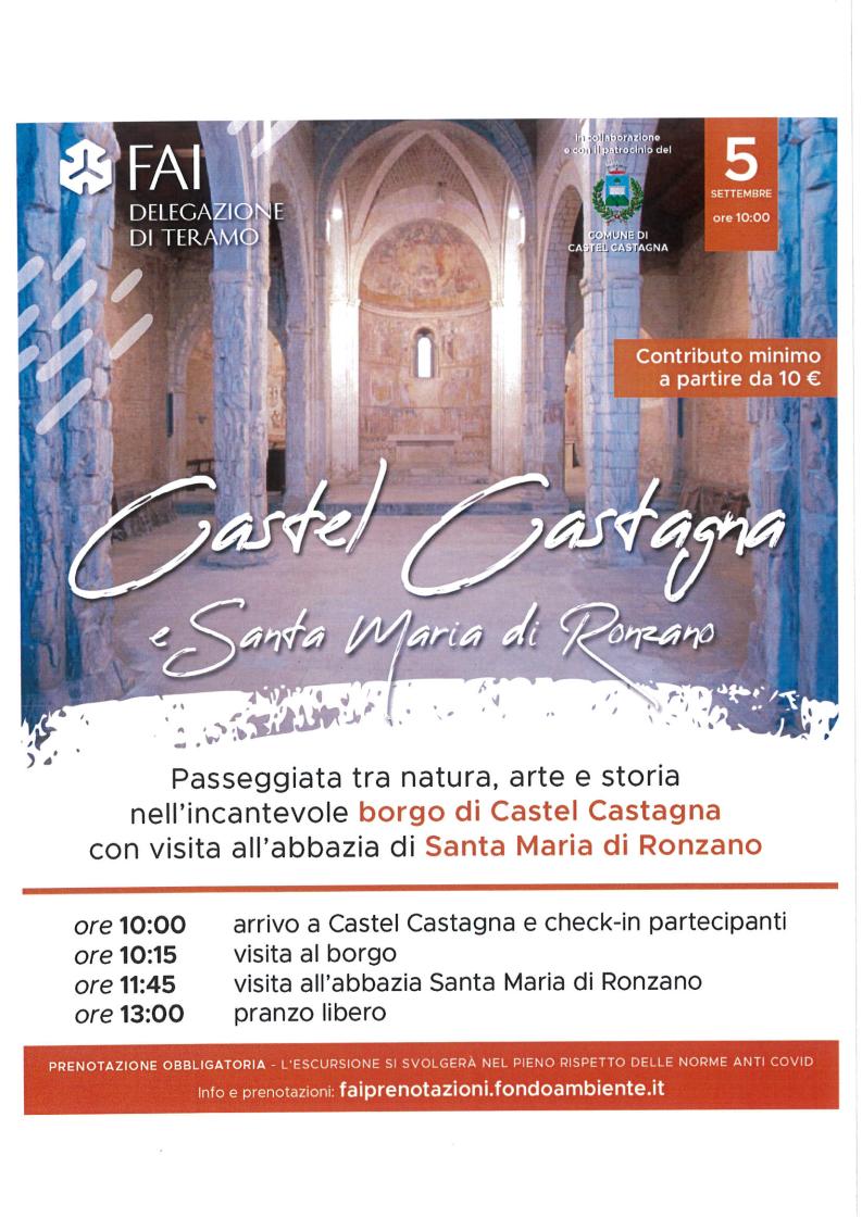 Castel Castagna e Santa Maria di Ronzano con il FAI
