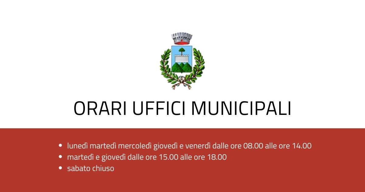 Orario Uffici Municipali